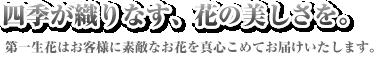 札幌市でお花のことなら第一生花株式会社</p>  <div class=